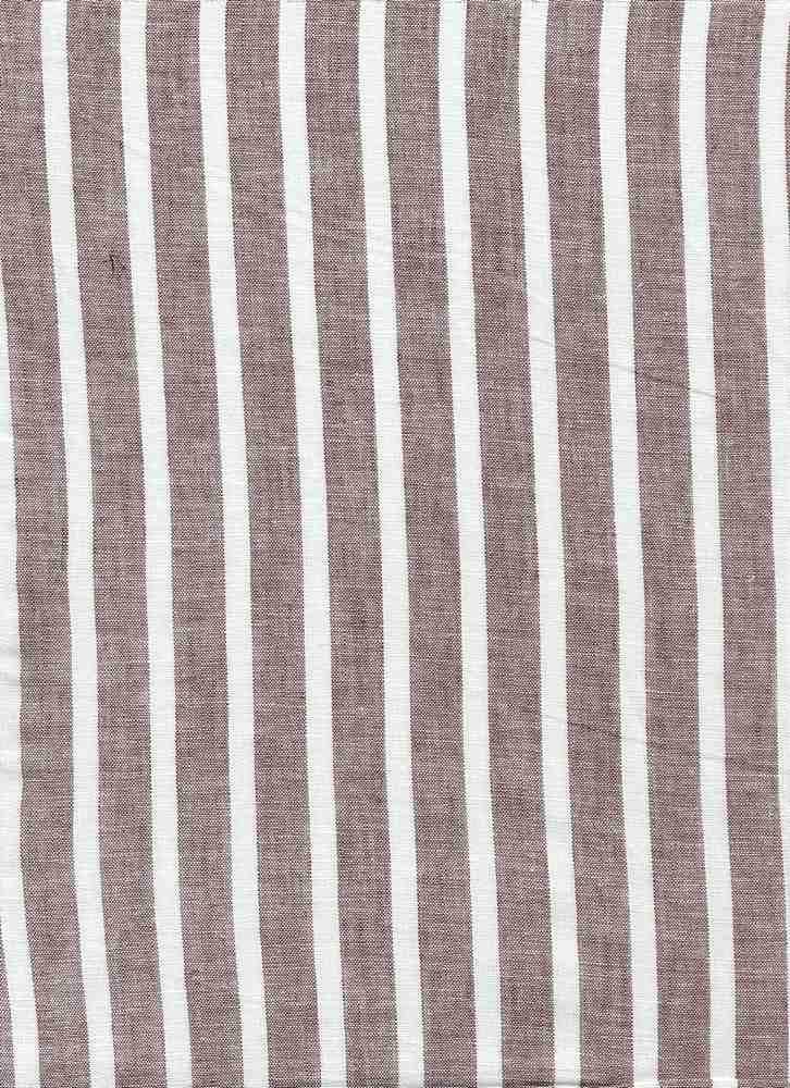 LIN-STP-997 / GRAY/WHITE / LINEN COTTON Y/D STRIPE 55/45