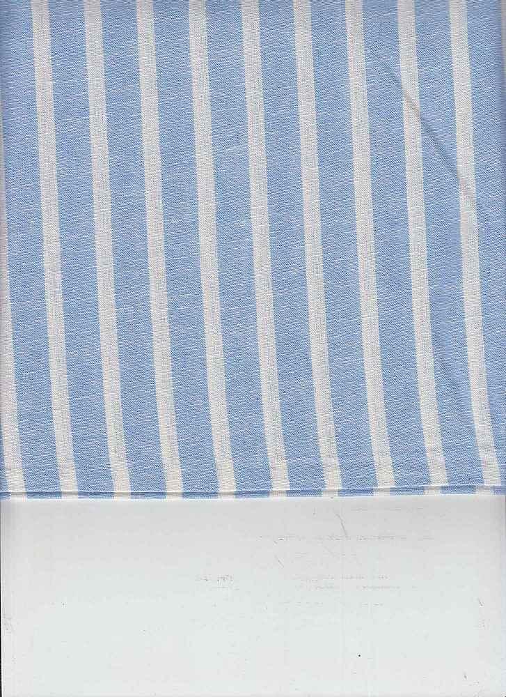 LIN-C-STP-997 / BLUE/WHITE / 55/45 LINEN COTTON Y/D STRIPE