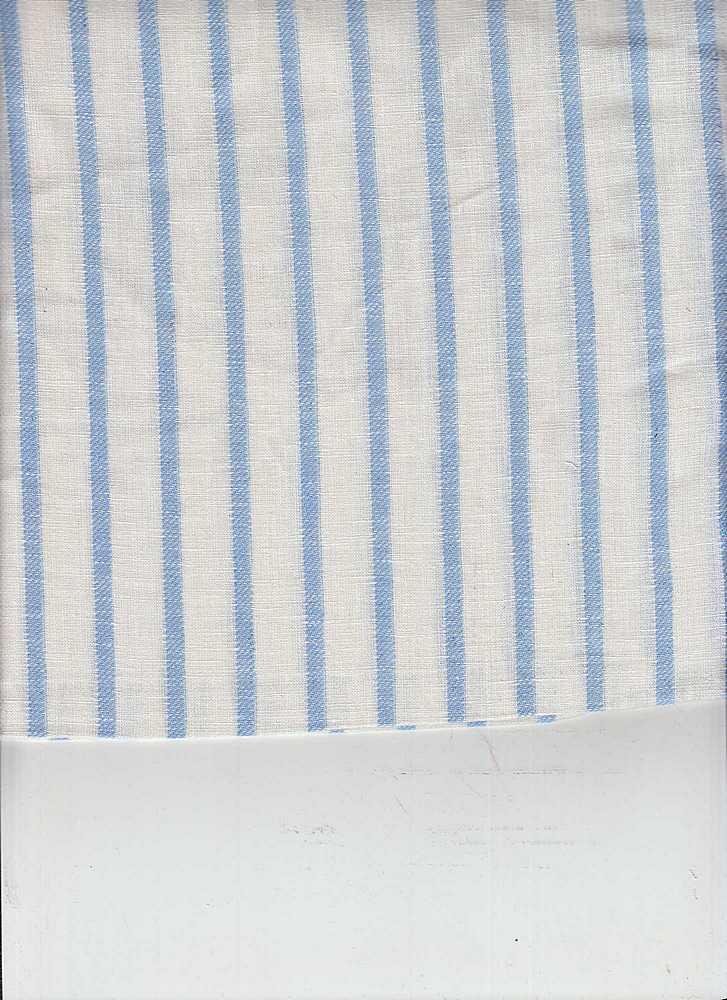 LIN-STP-018 / SKYBLUE/WHITE / LINEN COTTON Y/D STRIPE 55/45