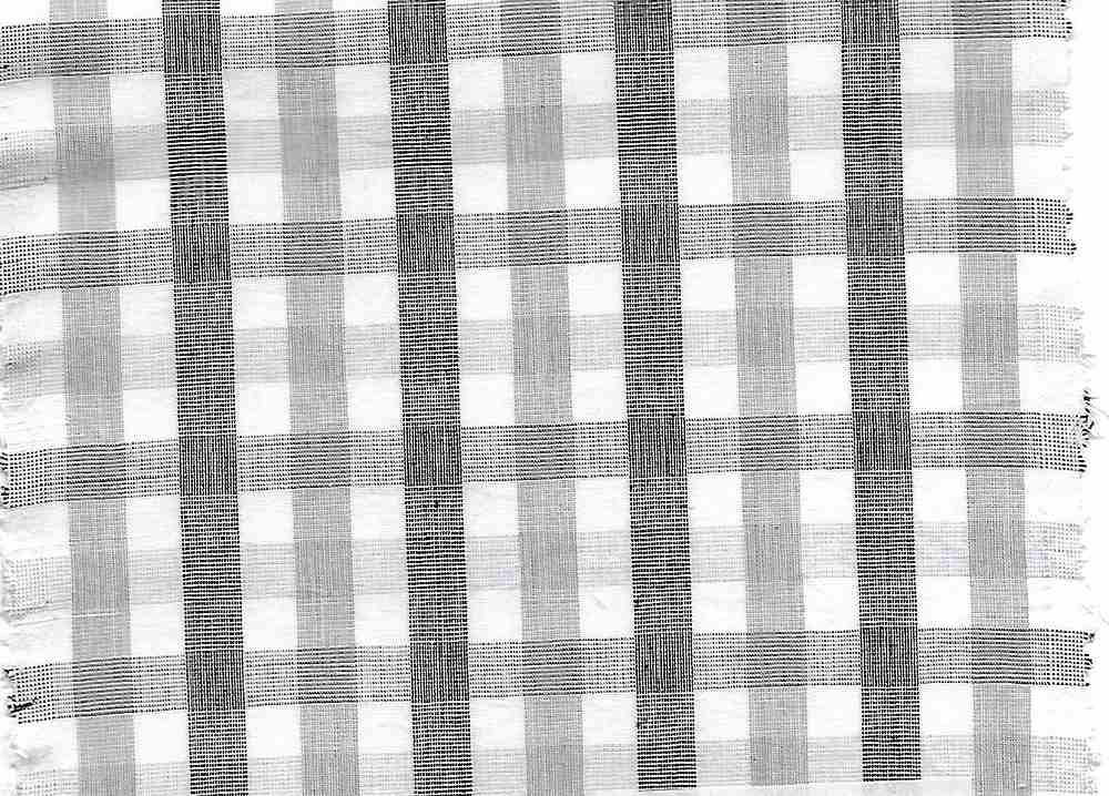 POP-PLD-620-1 / SILVER/BLACK / 100% COTTON POPLIN CHEKER PLAID