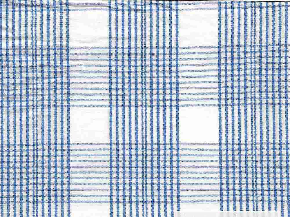 POP-PLD-702 / BLUE/WHITE / 100% COTTON POPLIN STRIPE