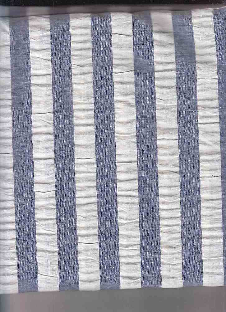 SEERS-STP-3/4 / ROYAL/WHITE / COTTON SPANDEX SEER SUCCER STRIPE C/S 98/2