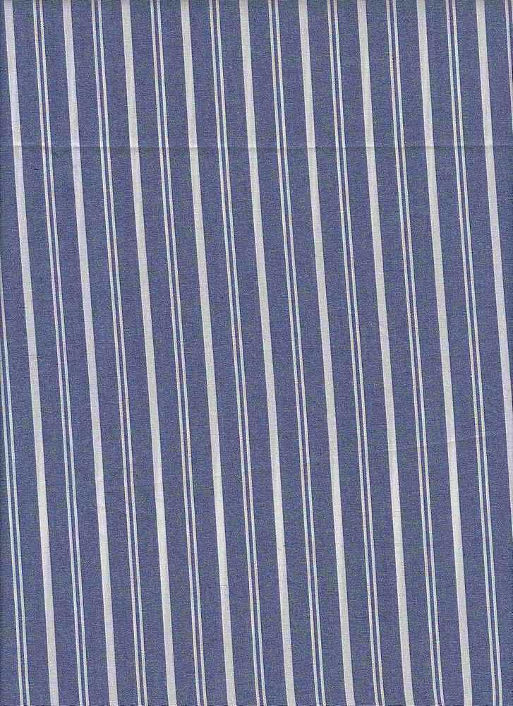 TEN-STP-C-6450 / BLUE / COTTON TENCEL STRIPE 52/48
