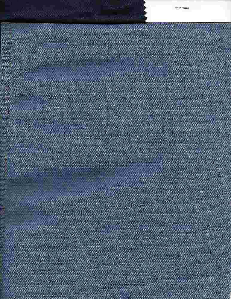 DEN-WASH-15028 / INDIGO / 100% COTTON WASHED PIQUE DENIM