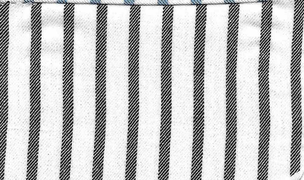 RYN-STP-5444 / WHITE/BLACK / 100 % RAYON Y/D STRIPE TWILL