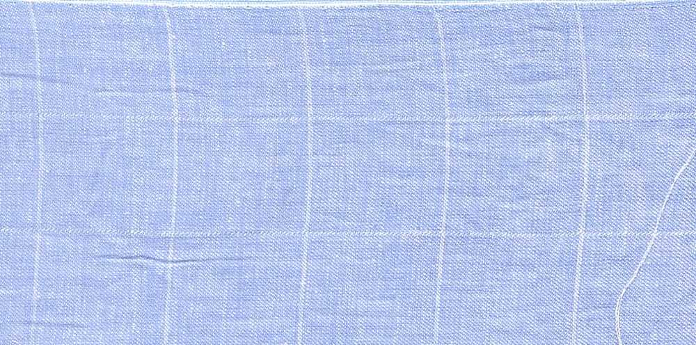 LIN-PLD-16500 / SKY / LINEN COTTON PLAID 55/45 4 OZ.