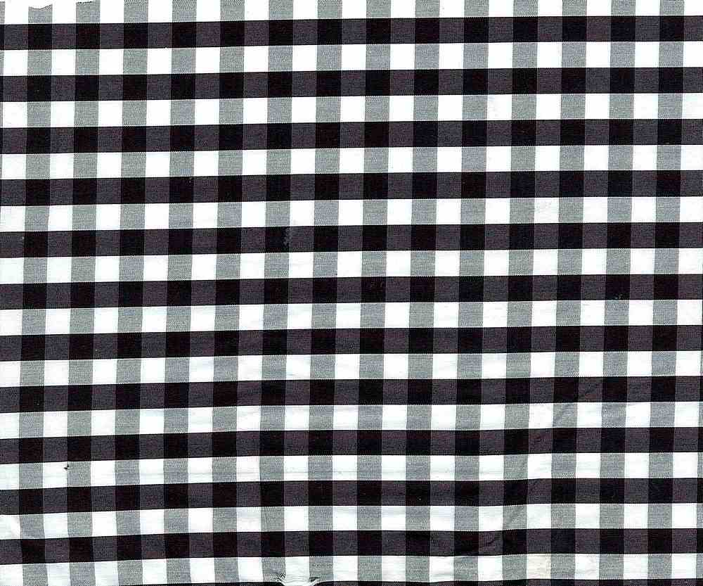 POPS-N-CHK-1229 / BLACK/ WHITE / STRETCH POPLIN CHECKER NYLON SPANDEX C/N/S 72/25/3